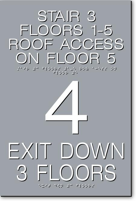 gray exit sign